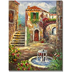 Trademark Fine Art Tuscan Cottage by Master's Art, 26x32-Inch Canvas Wall Art