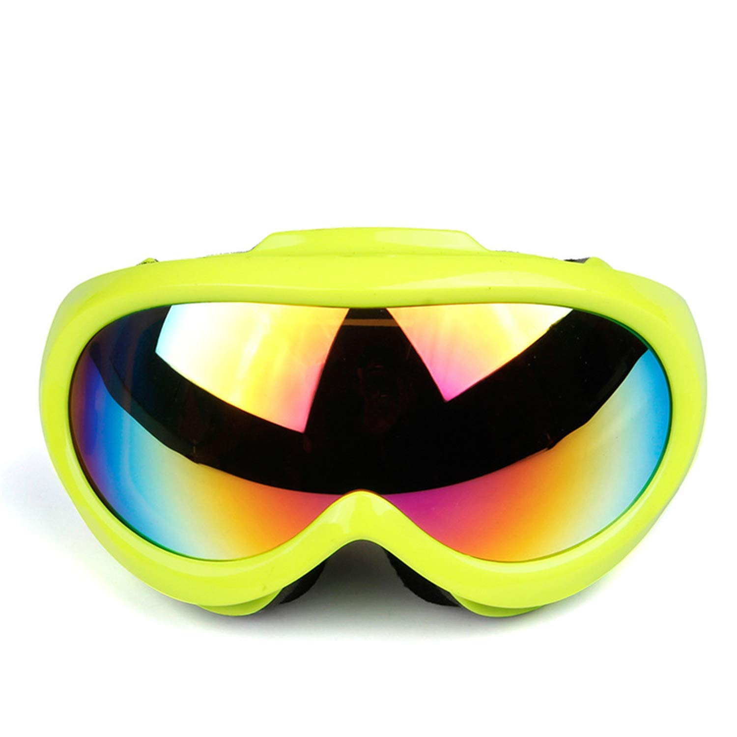 Green Exquisite goggles Ski Goggles Sunglasses Mask Boy Girl Anti-fog Kids Winter Snow Outdoor Sports Off-road Riding Anti-UV Windproof Snowboarding17cm (color   bluee)