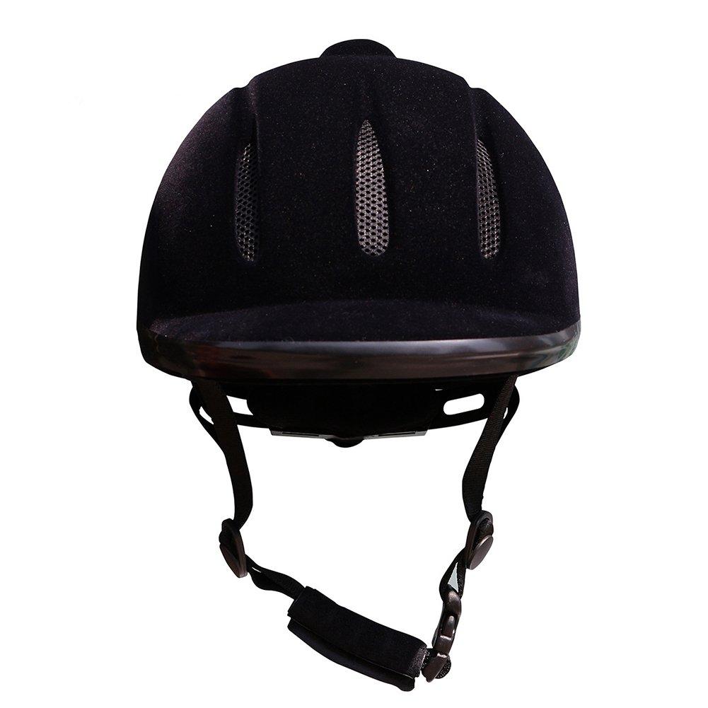 XuBa Equestrian Helmets Horse Riding Helmets Breathable Lightweight Blowholes Horsework Horsemanship Equipment Black L
