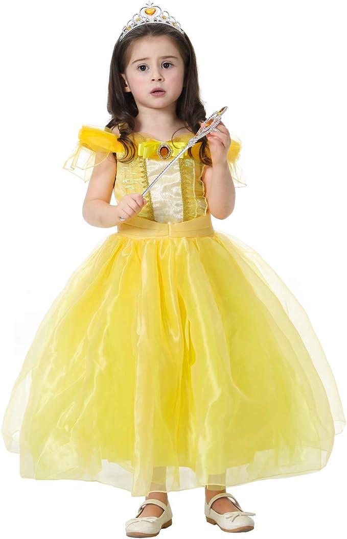 Disfraz de Bella y Bestia para niñas, para Halloween, Navidad ...