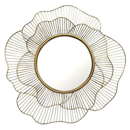 Stratton Home Decor S01681 Stella Wall Mirror, 28.25 W x 2.50 D x 28.25 H, Gold