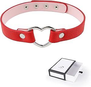 Heart Shaped Dog Collar Leash Necklace Choker Ḅḍṣṃṣ Bǒňdǎgé Toys Dog Šlǎvé Šëx Furniture Stråps Bóńdägê for Man and Women