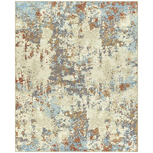 Maples Rugs Area Rugs - Southwestern Stone 7 x 10 Distressed Style Large Rug [Made in USA] for Living Room, Bedroom, and Dining Room, Multi