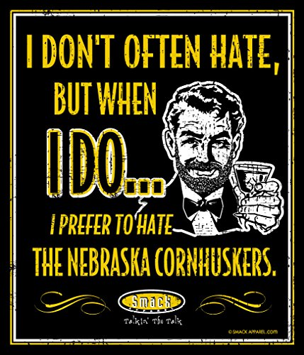 Smack Apparel Iowa Football Fans. I Prefer to Hate Nebraska. 12'' X 14'' Metal Fan Cave Sign