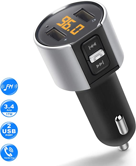 Wireless Bluetooth FM Transmitter Radio Adapter in-Car Kit USB Charger Handsfree