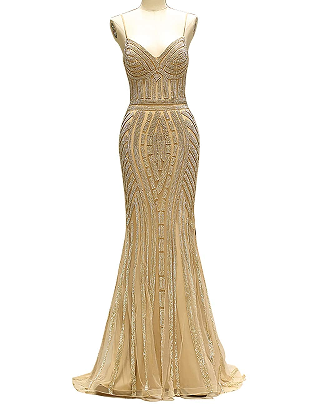 761cfd864b gold PROMNOVAS Diamond Dress Tulle Formal Occasion Long Evening ...