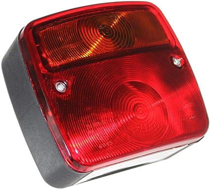 2x Anhänger Rücklicht Kammer Leuchte Beleuchtung Mit Kennzeichenbeleuchtung 12v 24v Trailer Kfz Neu Old Harvest Auto