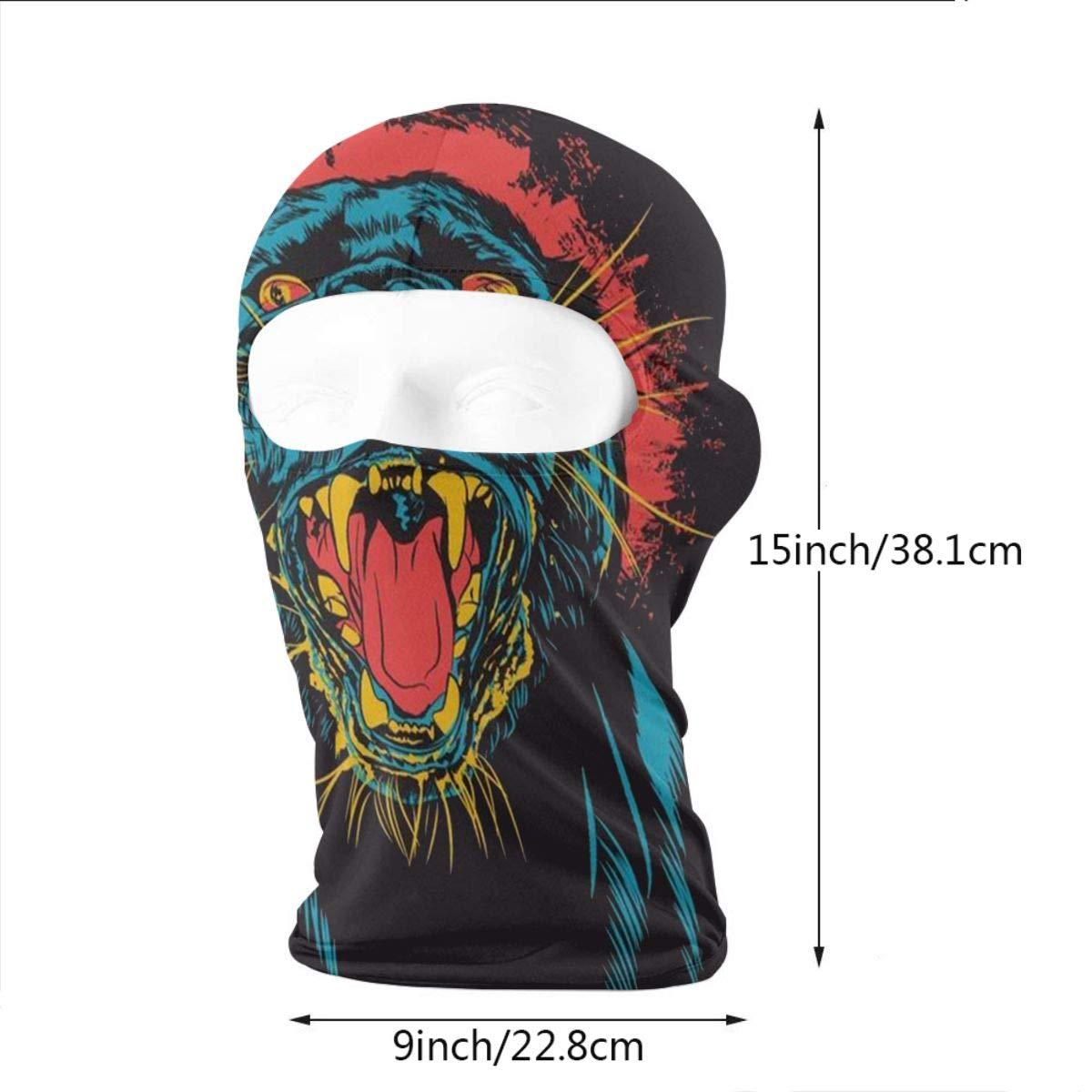 Gomop Ski Cap Tiger at Sunset Full Face Mask Wind-Resistant Face Mask