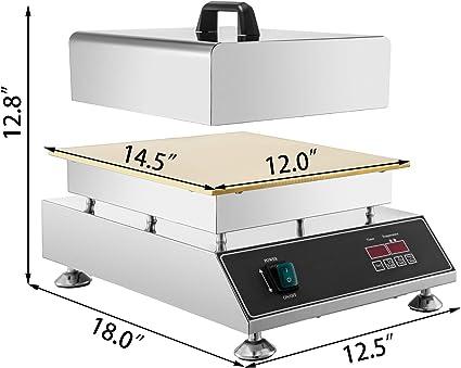 Anhon Horno del Souffle Comercial Electrico 220V Comercial Placa Caliente Sopladora de Gofre Horno para Souffle 320 x 480 x 240 mm: Amazon.es: Hogar