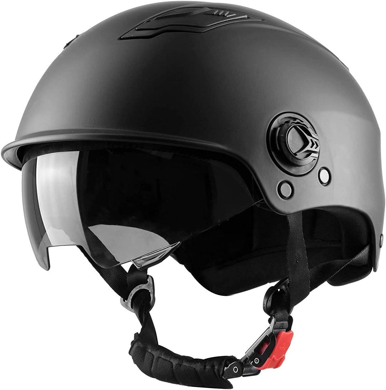 Westt Escape - Casco de Patinete Eléctrico con Visera - Casco Multiuso Negro Mate para Monopatín, Bicicleta y Patinete