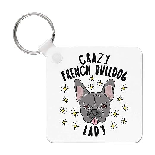 Gift Base Crazy Bulldog Francés Señora Estrellas Llavero ...