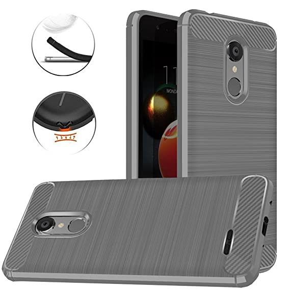 pretty nice 49ffc b9384 LG Tribute Dynasty Case, LG Zone 4 Case, LG Aristo 2 Case, LG Tribute  Empire Case, Dretal Carbon Fiber Anti-Fingerprint Shock Resistant Brushed  ...