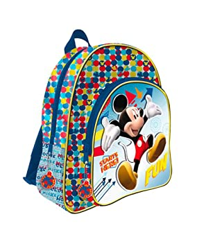 DISNEY MICKEY Mochila 41 cm con 2 cremalleras con decoracion en 3D y adaptable a carro trolley: Amazon.es: Equipaje