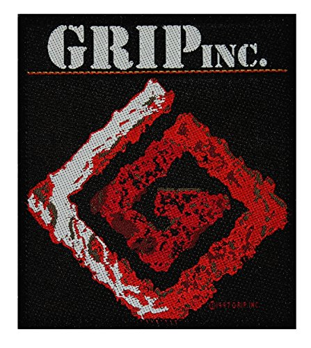 - Grip Inc. Band Logo Patch Dave Lombardo Groove Metal Music Woven Sew On Applique