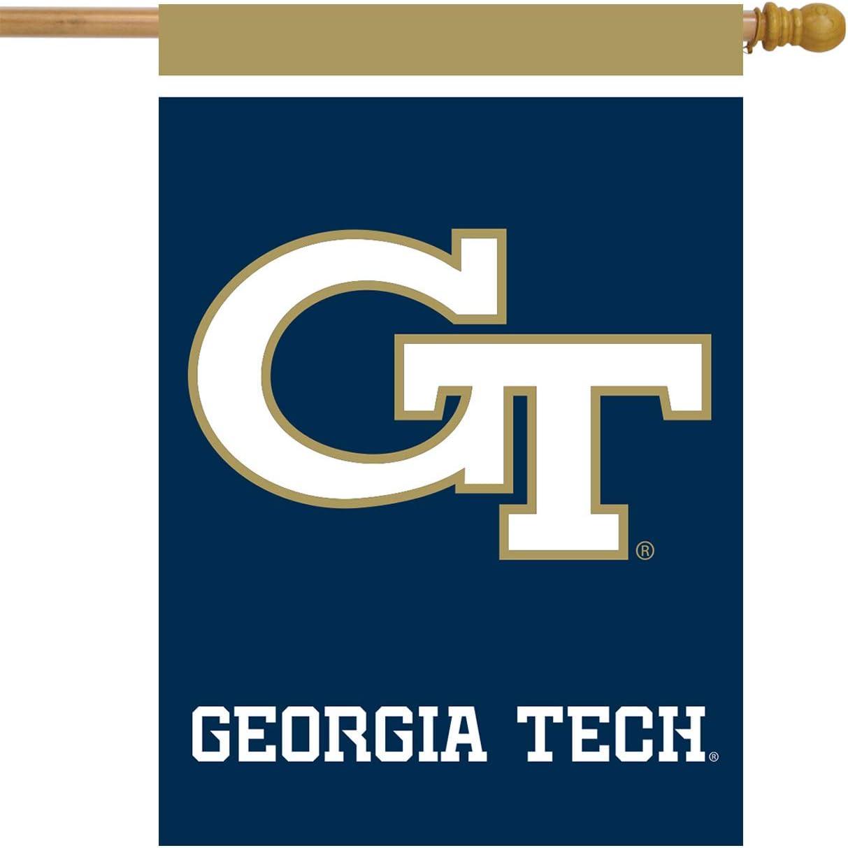 "Georgia Tech Yellow Jackets House Flag NCAA Licensed 28"" x 40"""