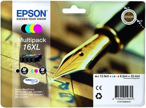 Epson Original Epson Workforce Wf 2630 Wf 16xl C13t16364022 Tintenpatrone Multipack Schwarz Cyan Magenta Gelb Bürobedarf Schreibwaren
