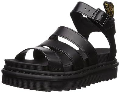 4720e32b582 Dr. Martens Women s Blaire Brando Fisherman Sandal Black Patent Leather 4  Medium UK (6