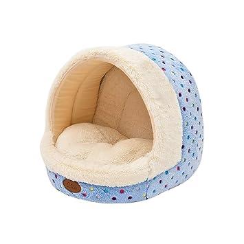 POPETPOP Perro iglú Cama Nido casa Mascota Perro Gato iglú Camas Suave cómoda casa Cama: Amazon.es: Productos para mascotas