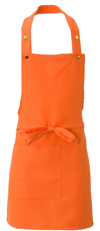 Grembiule corto con pettorina donna bar gelateria ristorante arancione