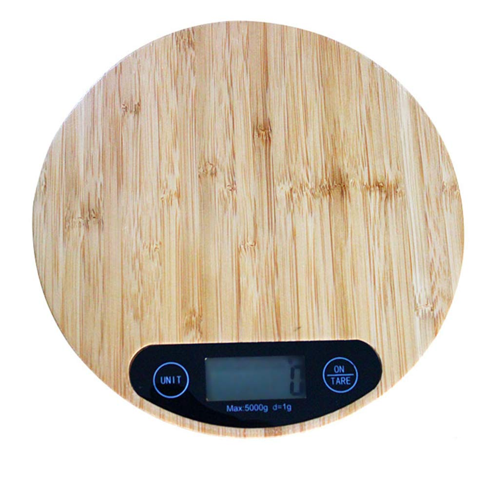 ieasysexy Digital Kitchen Scale Kitchen Food Weight Scale Multifunction Food Scale Bamboo Wood Grain High Precision Electronic Scale (Style#1)