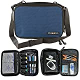 ChillMED Elite Diabetic Insulin Cooler Bag Travel Case with Two 6oz Cold Packs (Blue) 10'' x 7'' x 3''