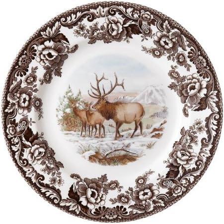 Spode Woodland American Wildlife Elk Dinner Plate Spode Woodland Dinnerware Dinner Plates