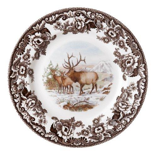 Bear Dinner Plate (Spode Woodland American Wildlife Elk Dinner Plate)