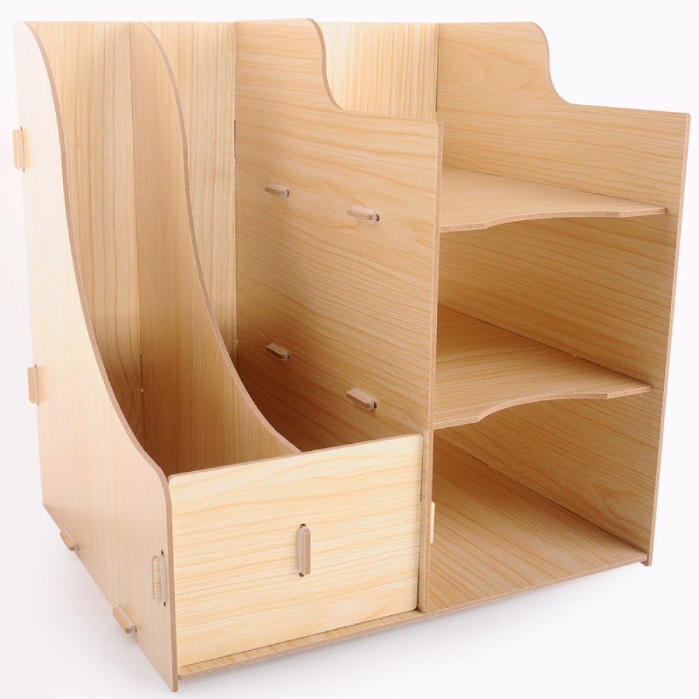 ZAIYI Bücherregal Von Office Supplies Dokumente Dateirahmen Multilayer Holz Desktop Speicherorganisator Creative Book Organizer,C B07CNVBH6H    | Gewinnen Sie das Lob der Kunden