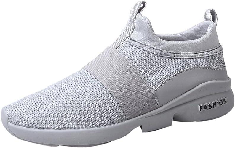 Ansenesna Herren Sneaker Sommer Flach Elastisch Ohne Schnürung Sportschuhe Männer Elegant Mesh Textil Sport Outdoor Fitnessstudio