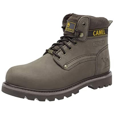 Men/'s Steel Toe Boots Waterproof Leather Military Combat Work Casual Ankle Shoes