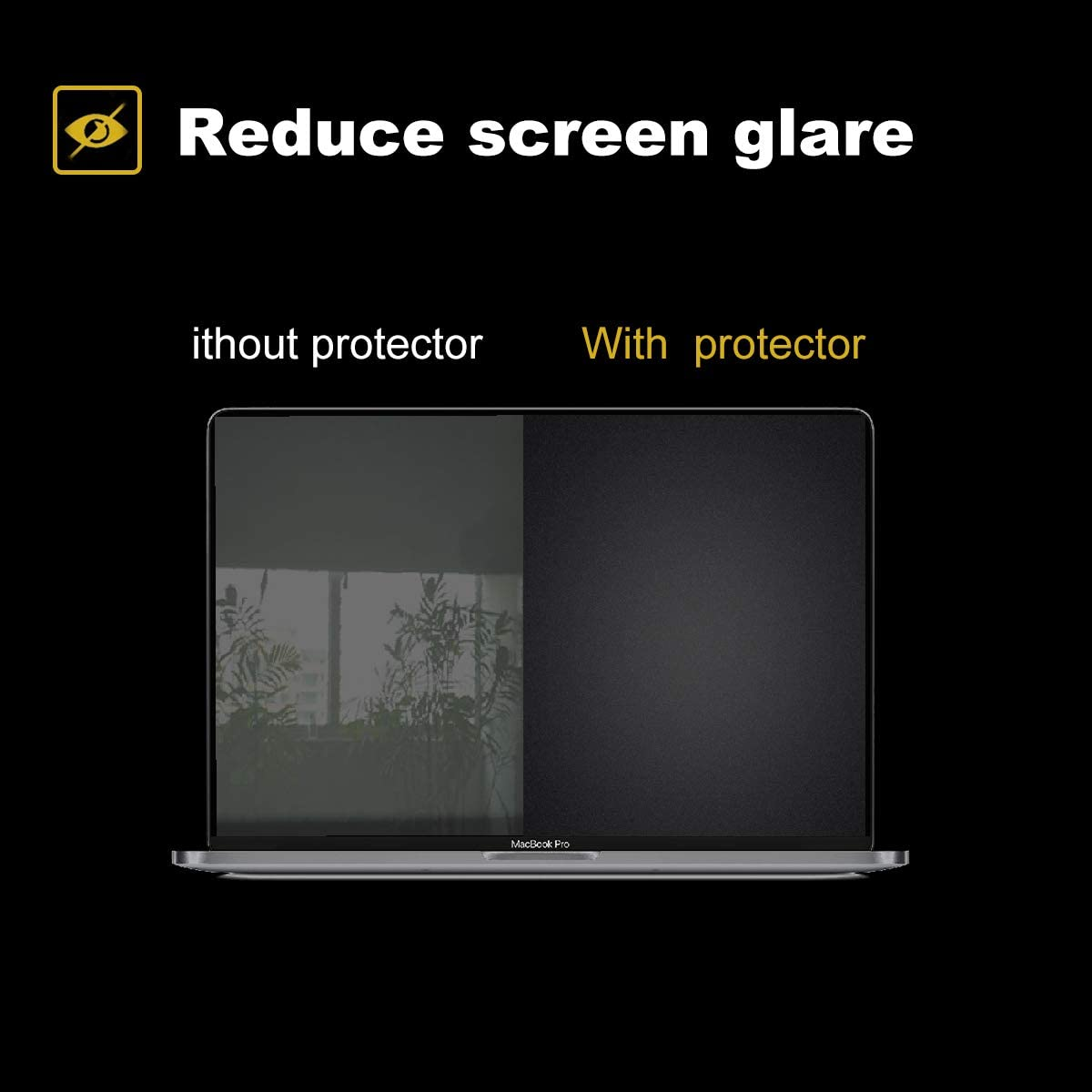 Help for Your Eyes Reduce Fatigue 2 Pack Matte Anti-Glare Screen Protector for 2016-2019 MacBook Pro Touch Bar 13 inch A2159 A1706 A1708 A1989 with Surprise Keyboard Skin