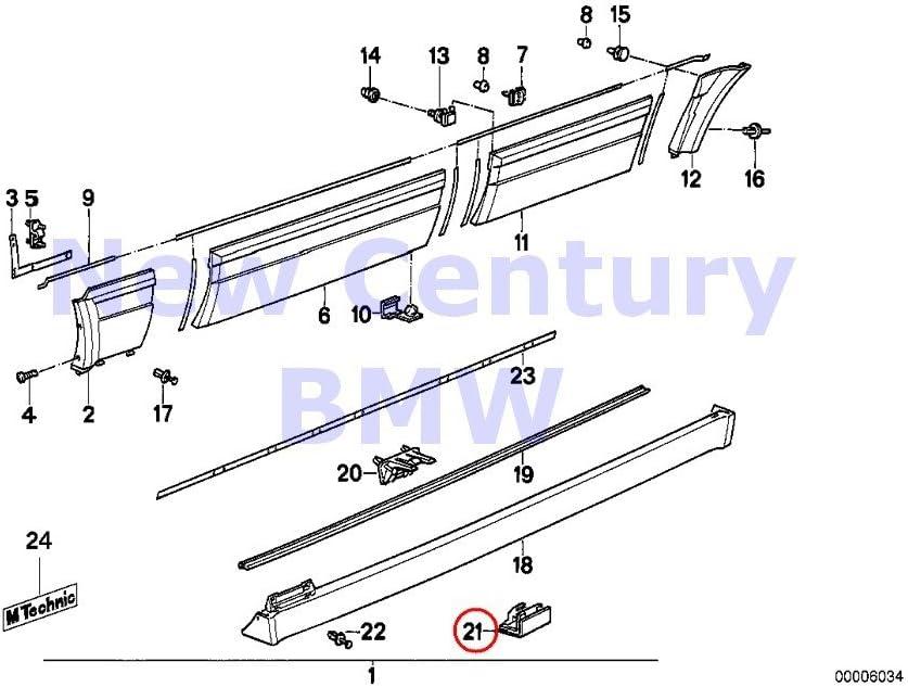BMW E32 750iL 740iL 740i 735iL 735i Moulding Clip for Door Mouldings O.E.M NEW