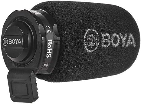 Bulufree BOYA Mini Micrófono de Condensador Omni-direccional Micrófono Entrevistas/Videos/Discursos Grabación Compatible para iOS y Android Smartphone iPod Touch (Jack de 3.5mm): Amazon.es: Electrónica