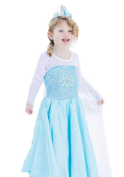 Amazon.com: CVERRE - Vestido de cosplay para niñas, copos de ...