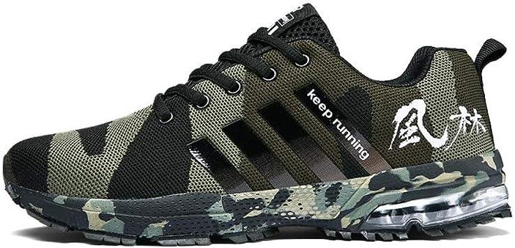 WDDGPZYDX Calzado Deportivo Zapatos Casuales De Hombres Tallas Grandes 46 Zapatos De Hombre Zapatillas Militares Zapatillas De Deporte De Verano, Zapatillas Verdes De Unisex,Verde Militar,6: Amazon.es: Deportes y aire libre