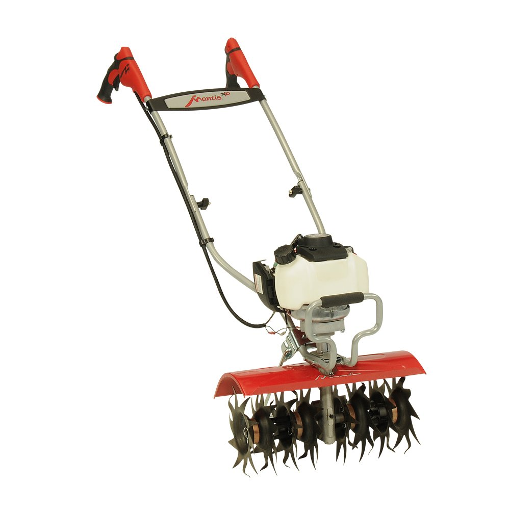 Mantis XP Extra-Wide Tiller Cultivator 7990 Powered by Honda – Get More Done in Less Time – No Fuel Mix - Sure-Grip Handles – Built to be Durable and Dependable