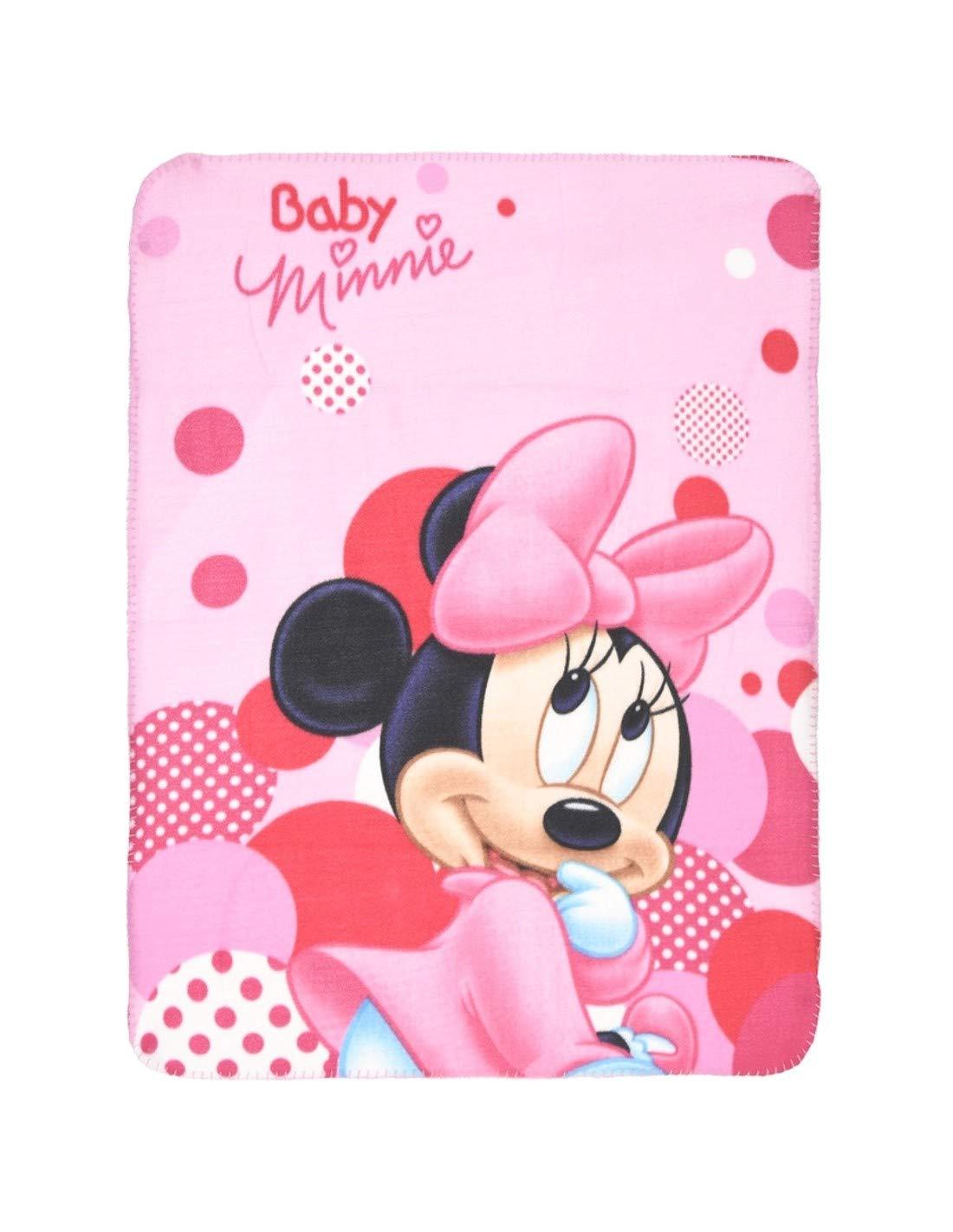 Manta polar para bebé niña, con Minnie Bebé de Disney, rosa, 75 x ...