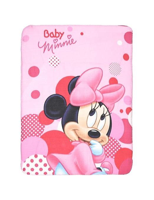 Manta polar para bebé niña, con Minnie Bebé de Disney, rosa ...