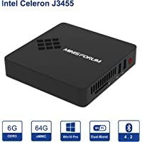 GN34 MINI PC Desktop Windows 10 Pro 6GB Ram 64GB eMMC/Intel Apollo Lake Celeron J3455 (2M Cache, up to 2.3 GHz)/ DIY SSD/ 4K HD/HDMI&VGA Outputs/ 2.4G+5G WiFi/BT 4.2/ 1000Mbps LAN/ 3xUSB 3.0