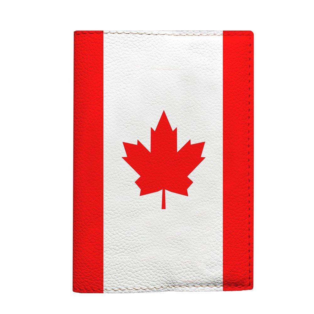 Canada flag Passport Cover travel wallet for documents eco leather material