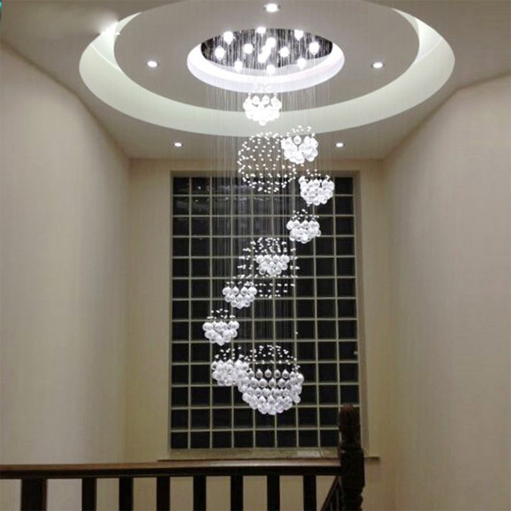of brizzo crystals chandelier steel stainless small sphere stores light base modern lighting crystal with picture mirror