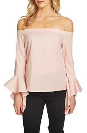1.State Ruffled-Sleeve Off-The-Shoulder Top Pink Large at Amazon ... 42d43a695b41