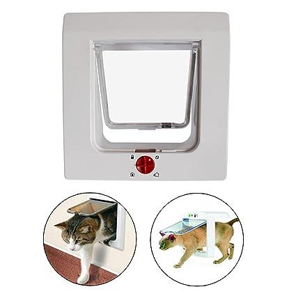 Puerta de gato o perro, OCHO8 puerta de gato, sistema de bloqueo de 4 vías, ...