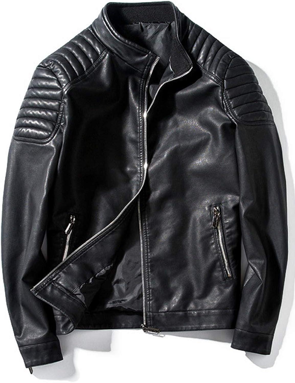 Zara Beez Men Zipper Fasten Casual PU Leather Jacket