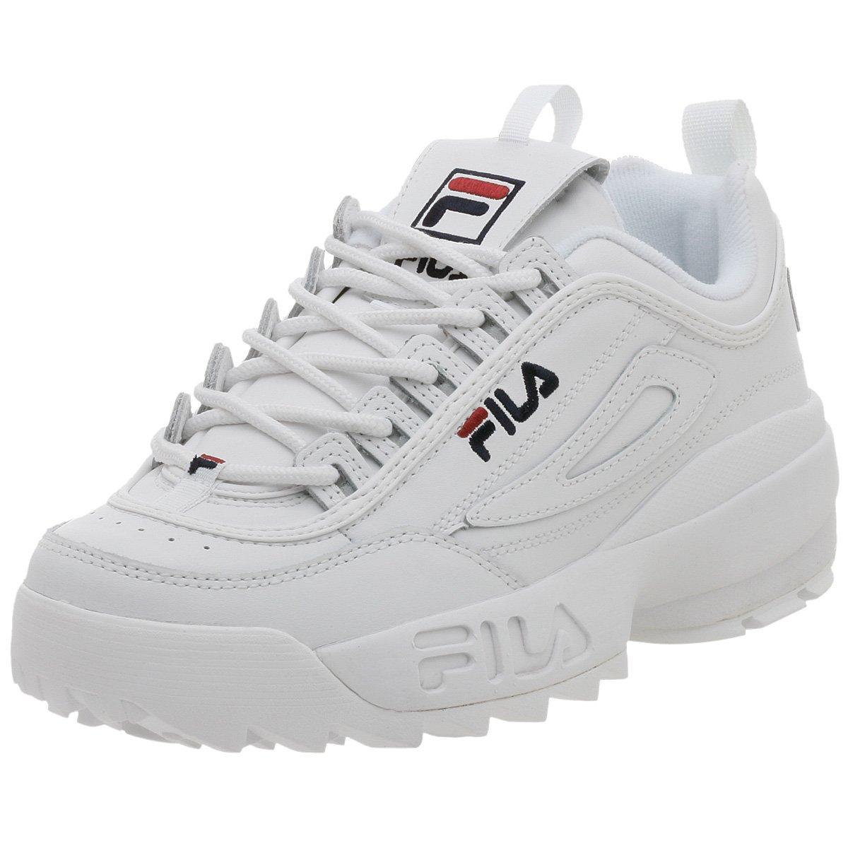 Fila Men's Disruptor II Sneaker,White/Peacoat/Vinred,9.5 M by Fila