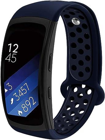Aresh Samsung Gear Fit 2 - Correa de repuesto de silicona suave ...