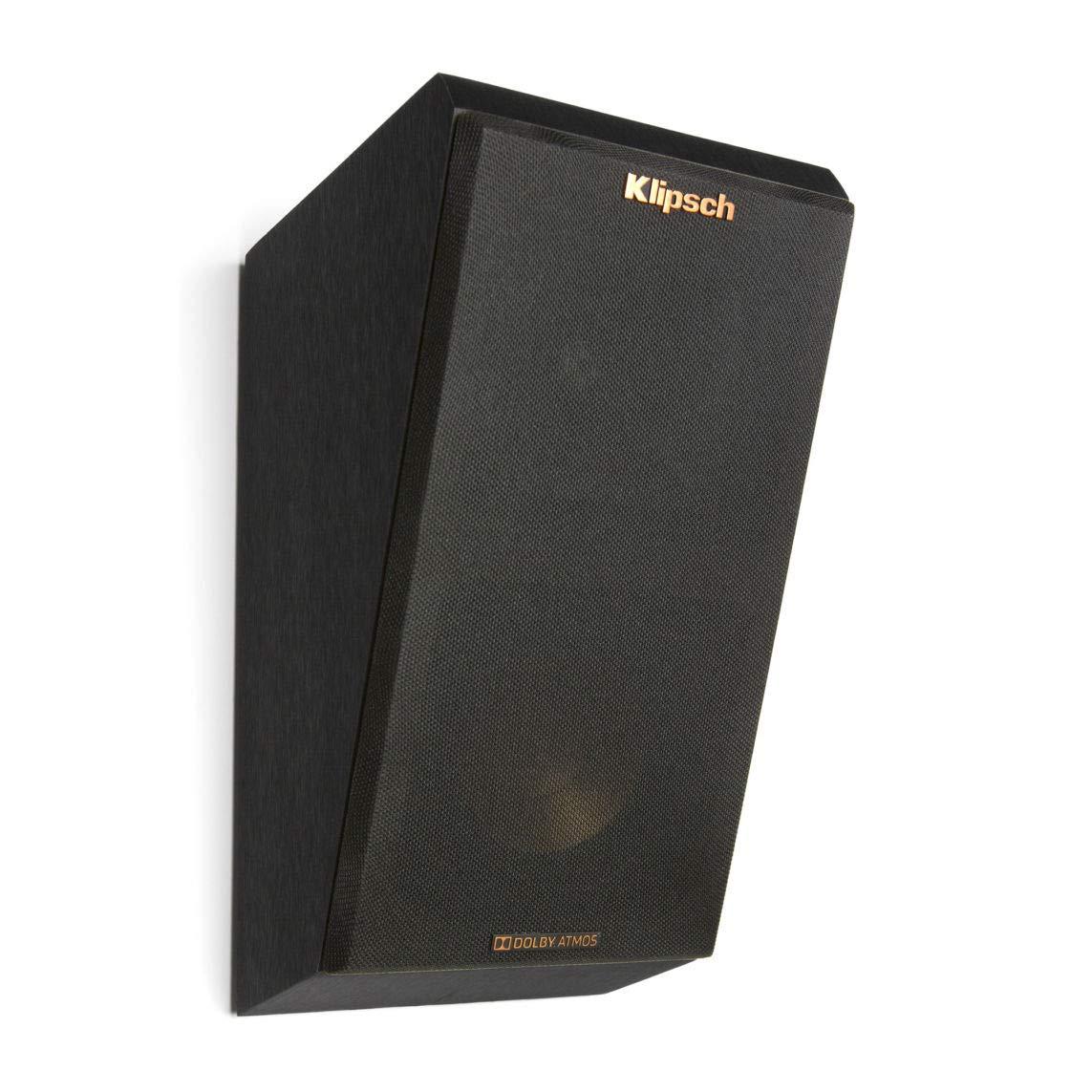 Amazon Klipsch Surround Dolby Atmos Bookshelf Home Speaker Set Of 2 Black Vinyl R 14SA Audio Theater