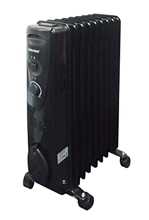 ae2721defc3 Portable 9 Fin 2kw Electric OIL FILLED RADIATOR Heater  Amazon.co.uk   Electronics