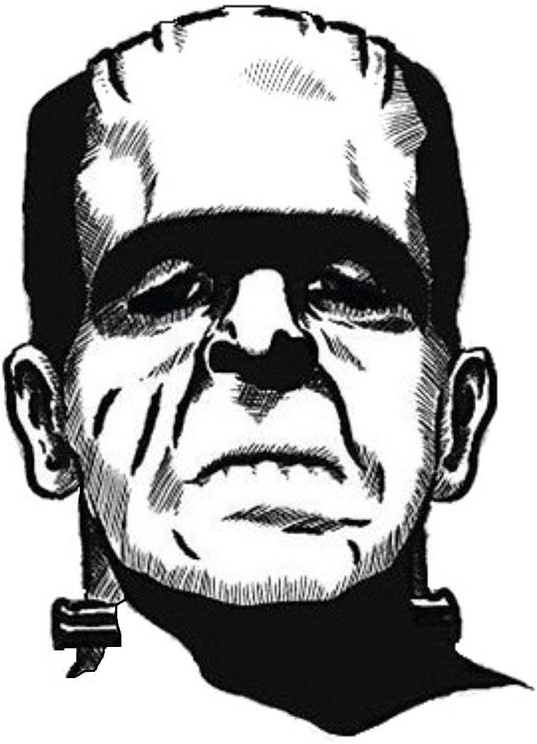 Frankenstein Vinyl Decal Sticker 2 TWO Pack