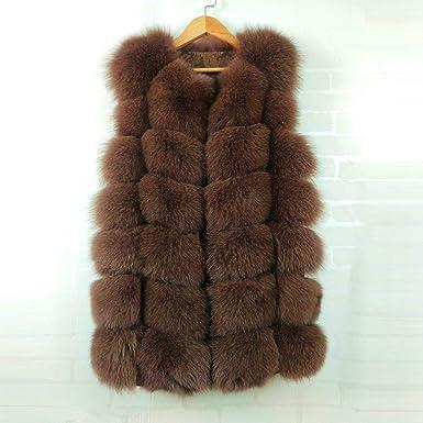 Chic Winter Women Fox Fur Warm Thicken Luxury Parka Long Coat Outdoor Jacket New